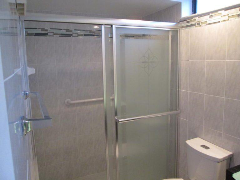 finished bathroom install