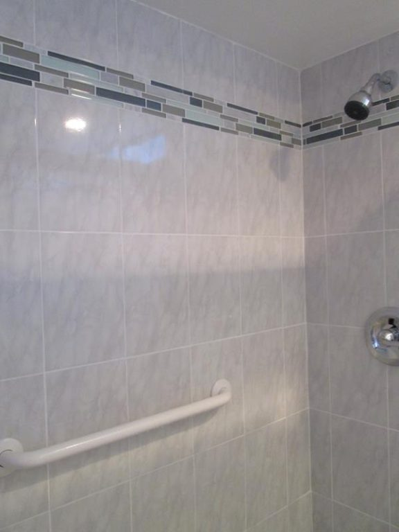 finished shower install