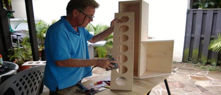 custom wine cabinet being made