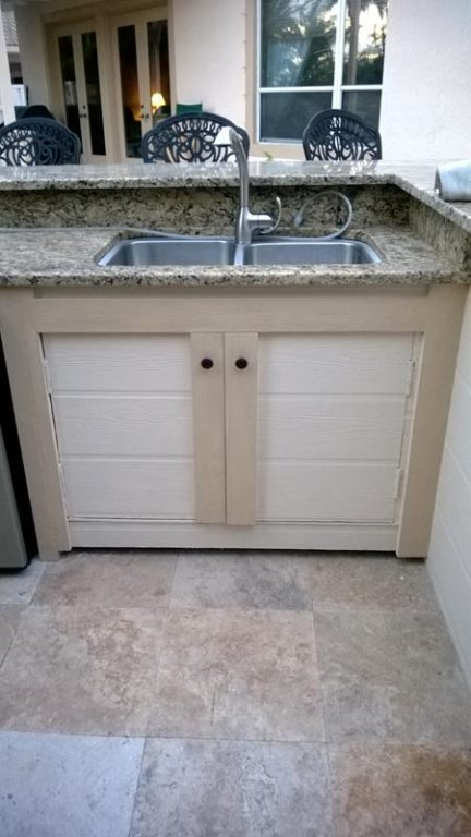 outdoor kitchen sink and plumbing