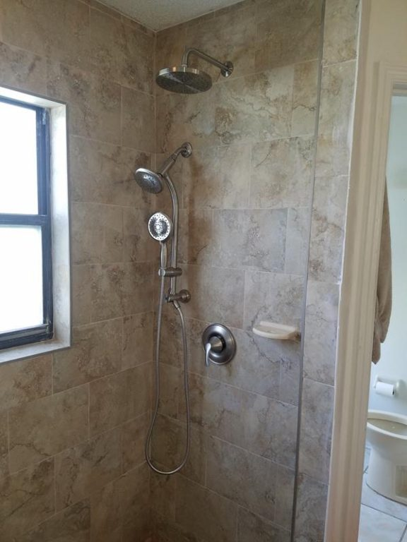 new shower head and body install