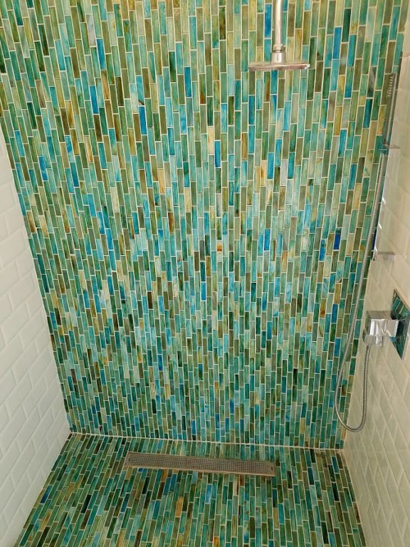 mosaic bathroom tile install