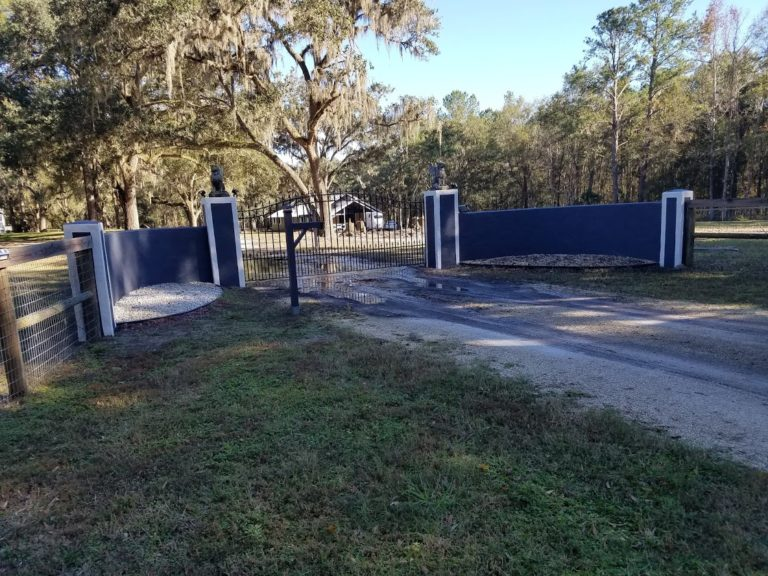 fix and paint front gateway of home