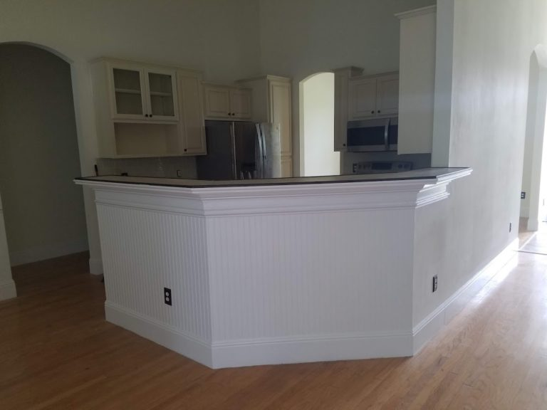 new custom countertop bar and molding